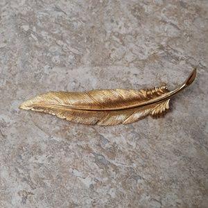 Vintage Gold Leaf Monet Brooch